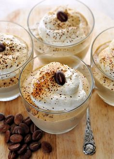 Few Delicious Coffee Recipes for You – Drinks Paradise Polish Desserts, Polish Recipes, Sweet Desserts, Dessert Recipes, Shot Glass Desserts, Best Organic Coffee, Cocoa Drink, Yummy Treats, Yummy Food