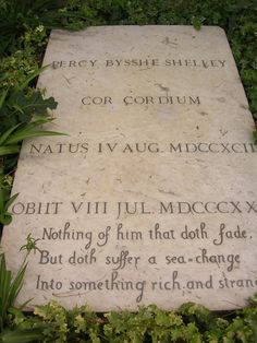 Percy Bysshe Shelley - Cimitero Acattolico - Rome - August 2007