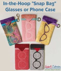 In-the-Hoop Snappy Glasses or Phone Case