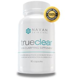 Our TrueClear Acne Supplement detoxifies skin and attacks acne below the surface.