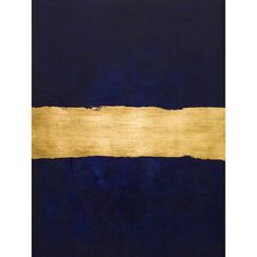 Art/wall Decor - Inspired by midcentury color-field paintings, this textural piece blends rich layers of navy paint with lustrous gold leaf. Diy Wall Art, Diy Art, Wall Art Decor, Navy Home Decor, Navy Paint, Gold Walls, Navy Walls, Gold Palette, Colour Field