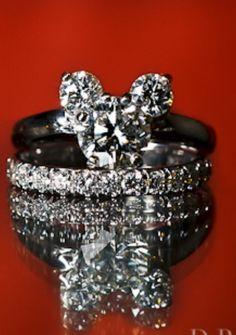 Hidden Mickey Mouse wedding ring, engagement ring, Disney ...
