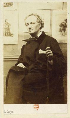 Charles Baudelaire, ca 1863 by Etienne Carjat