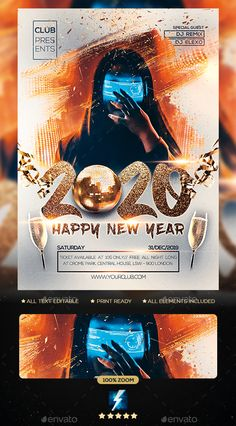 Buy 2020 New Year Party Flyer by sparkg on GraphicRiver. 2020 New Year Party Flyer It's unique flyers, poster design for your business Advertisement purpose. All Elements are. Magazine Art, Magazine Covers, Flyer Maker, Funny Tattoos, Festival Posters, Advertising Poster, Party Flyer, New Years Party, Wedding Humor