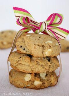 Les délices de Maya: Biscuits au chocolat blanc et aux canneberges