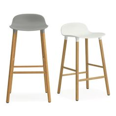 A+R Store - Form Barstool: Counter/Bar Oak Legs - Product Detail