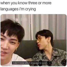 Lol Bambam when the group is multilingual