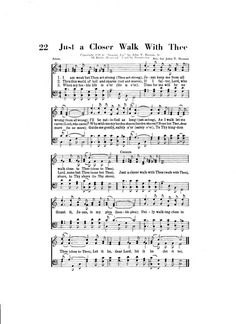 Just a Closer Walk With Thee Christian Hymn by TheHymnShoppe, $2.00