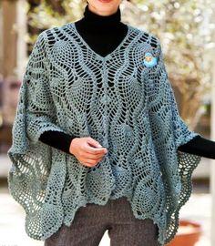 poncho crochet - Buscar con Google
