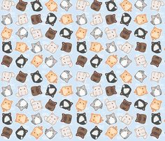 pretty kitties fabric by mrs_buns on Spoonflower - custom fabric