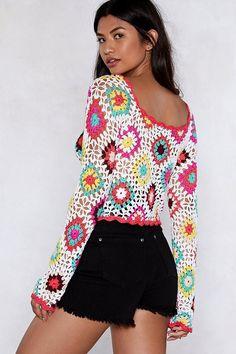 Going Through a Crochet Patch Top