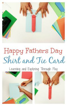 Learning and Exploring Through Play: Shirt and Tie Fathers Day Card