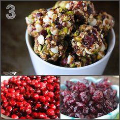 cranberry pistacio energy bites and 20 healthy cranberry recipes | Healthy Seasonal Recipes @healthyseasonal
