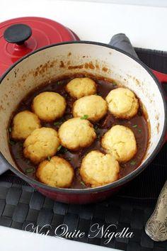 Beef & Beer Stew with Cheese Dumplings (aka The Marriage Maker) || not quite nigella