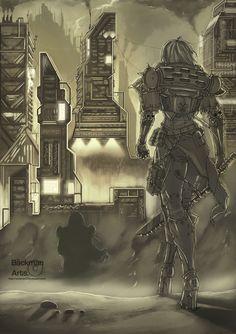 Adepta Sororitas - That's not power armor. High heels!? Hive World - Varius III by BackmanArts.