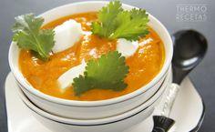 Crema de zanahoria y tomate - http://www.thermorecetas.com/crema-de-zanahoria-y-tomate/