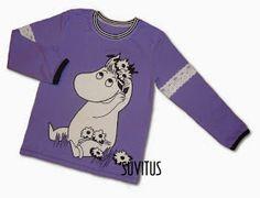 Appliqued Moomin shirt by Suvitus Moomin, Applique, Graphic Sweatshirt, My Love, Sweatshirts, Unique, Sweaters, Kids, Handmade
