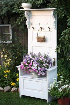 Old Door Hall Tree | gardening