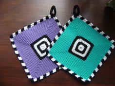 Grydelapper Crochet World, Crochet Home, Free Crochet, Knit Crochet, Crochet Potholders, Crochet Kitchen, Tea Cozy, Baby Knitting, Crochet Projects