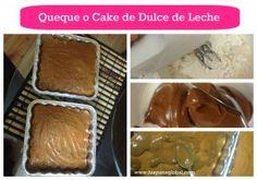 Dulce de leche cake collage