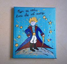 tela+dipinta+Il+Piccolo+Principe++di+cose+dipinte+su+DaWanda.com