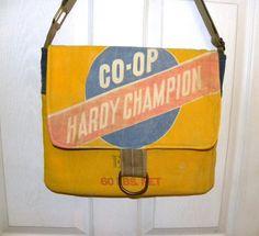 Vintage Co-Op Hardy Champion Alfalfa seed sack by LoriesBags