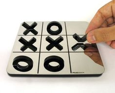 I don't know where to buy it or how much it is, but tic tac toe on a mirror with half o's and x's. Cool