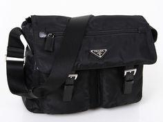 Prada BT6671 Black Messenger on Sale