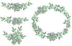 Succulent Wreath Succulent Bouquet Greenery Clipart Watercolor Clipart  #arrangement #babyshower #bouquet #greenery #greeneryclipart #instantdownload #invitationwreath #leafy #modern #succulents #wedding #weddinginvitation #wreath Christmas Wreath Clipart, Christmas Wreaths, Succulent Bouquet, Printable Art, Babyshower, Greenery, Succulents, Wedding Invitations, Corner