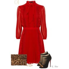 Vintage meets modern by ksims-1 on Polyvore featuring polyvore, fashion, style, Christian Louboutin, Alexander McQueen, Cartier, Bling Jewelry, modern, vintage and clothing
