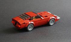 Lego 1969 Ferrari 365 - 02 by Jonathan Ẹlliott Train Lego, Lego Trains, Lego Cars, Lego Truck, Lego Autos, Lego Wheels, Lego Machines, Amazing Lego Creations, Lego Speed Champions