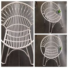 So this chair is in the outdoor section but I would use it inside in a heart beat. By #MainStays $49!! Real cute in white but would also be fun to spray paint. To paint or not to paint? What color? #goldforme #whoawaitwalmart #walmart @walmart