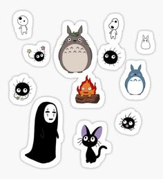 """""""Ghibli cuties"""" Stickers by Astrodia Stickers Cool, Anime Stickers, Tumblr Stickers, Phone Stickers, Kawaii Stickers, Journal Stickers, Printable Stickers, Planner Stickers, Totoro"""