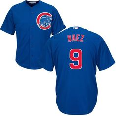 Chicago Cubs Javier Baez Majestic Athletic Youth authentic alternate a