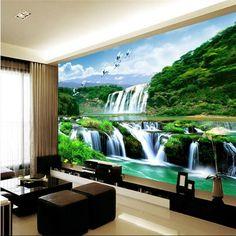 Wallpaper Mural Waterfall Nature Bedroom Living Room Tv Background Home Decor Wall Murals
