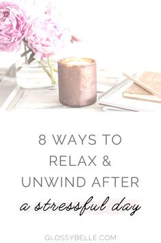 We all have days where we feel overwhelmed and stressed. Learn how to unwind & relax after a long, stressful day with these 8 easy tips in this post. health | health and wellness | relaxation | self care | self-care | pamper | self love | mental health #selfcare #selflove #relaxation #stressrelief #stressmanagement #wellness Health And Wellness, Mental Health, Put Things Into Perspective, Yoga For Stress Relief, Improve Yourself, Make It Yourself, Night Routine, Feeling Stressed, Ways To Relax