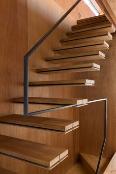 stair to open 'loft' - cantilever treads + minimal guarding - new-build, minimalist NORD house - Tokyo, Japan - APOLLO Associates