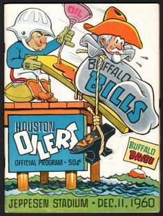 Up for auction June 8th..1960 Houston Oilers vs. Buffalo Bills AFL Football Program