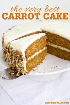 Homestyle Layered Carrot Cake - The Very Best Carrot Cake Recipe with Cream Cheese Frosting Dessert Kabobs, Dessert Pizza, Cream Cheese Recipes, Cake With Cream Cheese, Baking Recipes, Cake Recipes, Dessert Recipes, Lasagna Recipes, Steak Recipes