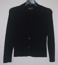 Jones New York Collection Petites Black Cardigan Sweater PM Petite Medium #JonesNewYork #Cardigan #PetiteFashion