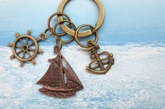 Vintage Brass Copper Rope Anchor. Rudder. Sailing by AccessoriesG, $2.30