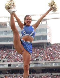 Brave cheerleader without pants - she supports her team with her shaved pussy! :: EroticaSearch.net