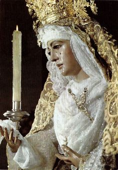 La Esperanza de Triana The Virgin of Hope of Triana in Seville, Spain.