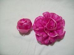 81.- Como hacer un boton de rosa doble en cintas , Iztac Madrigal - YouTube