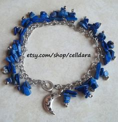 Moon In the Sky Bracelet by CellDara on Etsy