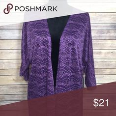 LuLaRoe Lindsay New with tags, purple colored lace LuLaRoe Lindsay kimono. No trades but open to reasonable offers! LuLaRoe Other
