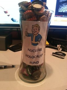 Fallout Jar - Better save those bottlecaps!