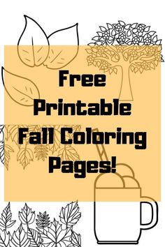 Fall Coloring Pages Fall activities, homeschool fall activites Learning Through Play, Fun Learning, Learning Activities, Homeschooling Resources, Fall Coloring Pages, Coloring Pages For Kids, Kids Coloring, Autumn Activities For Kids, Summer Activities