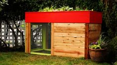 The Kippenhouse chicken coop roof is deep enough to grow vegetables (Credit: Traci Fontyn)