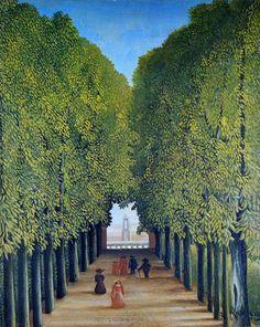 Henri Rousseau - Allée au parc de Saint-Cloud (1908)